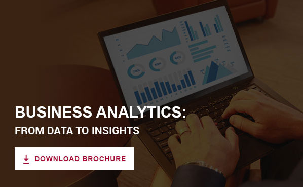 Business Analytics: From Data to Insights Program