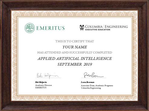 Applied Artificial Intelligence - Certificate