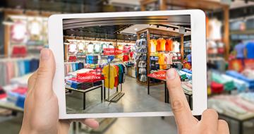 An AR retail app in development by a major brand